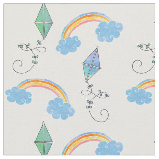 Kites and Rainbows Fabric