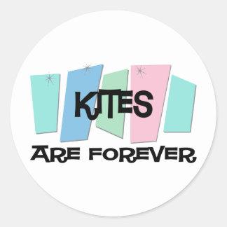Kites Are Forever Round Sticker
