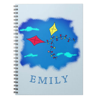 Kites in the Blue Sky Name Notebook