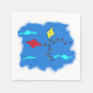 Kites in the Blue Sky Paper Napkins
