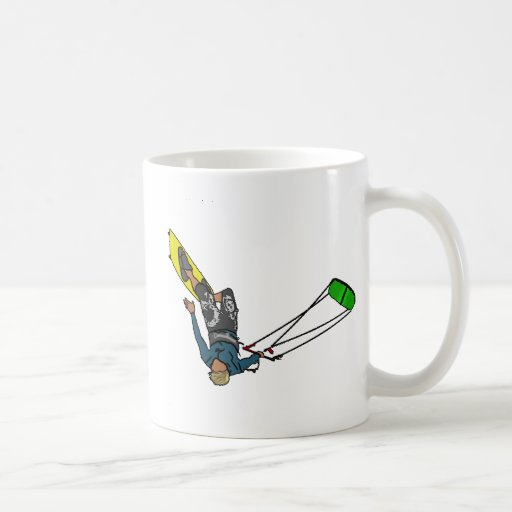 kitesurfer coffee mugs