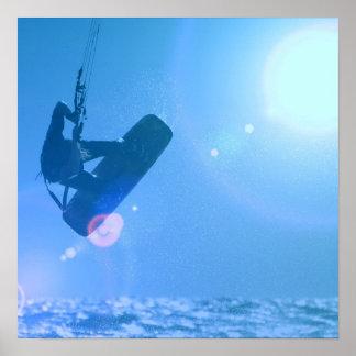 Kitesurfing Air Poster