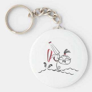 Kitesurfing doll basic round button key ring