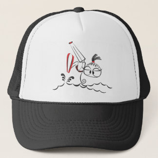 Kitesurfing doll trucker hat