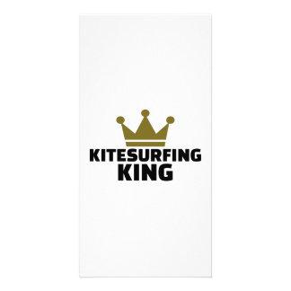 Kitesurfing king photo card