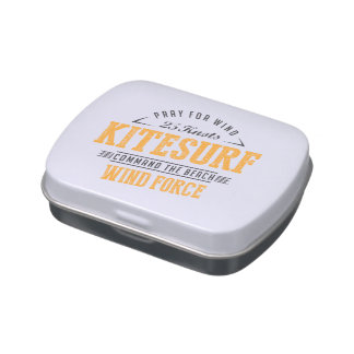 Kitesurfing Wind Force Extreme Sport Jelly Belly Candy Tin