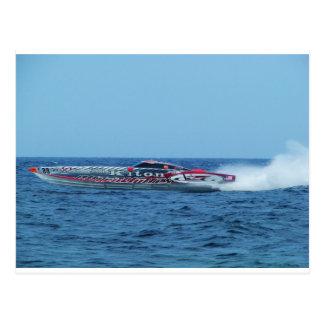Kiton offshore powerboat. postcard