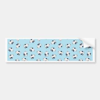 Kitsch Baby Birds in Kilts Bumper Sticker