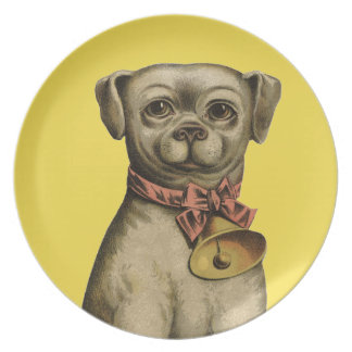 Kitsch Classic Vintage Art Dog Decorative Plate