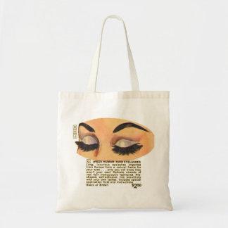 Kitsch Vintage '100% Human Eyelasses' Ad Budget Tote Bag
