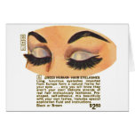 Kitsch Vintage '100% Human Eyelasses' Ad Greeting Card