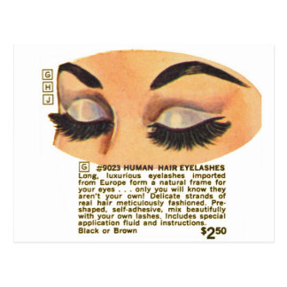 Kitsch Vintage '100% Human Eyelasses' Ad Postcard