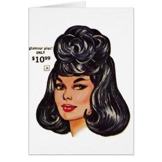 Kitsch Vintage '100% Human Wig' Ad #1 Greeting Card