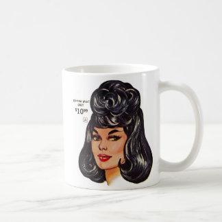 Kitsch Vintage '100% Human Wig' Ad #1 Coffee Mug