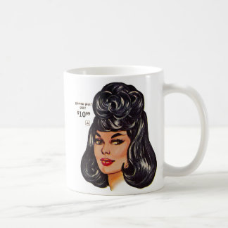 Kitsch Vintage 100 Human Wig Ad 1 Mug