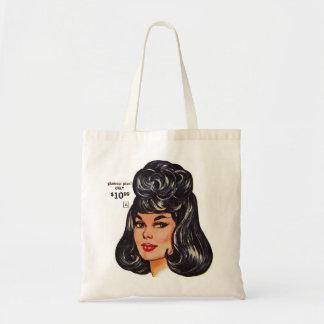 Kitsch Vintage '100% Human Wig' Ad #1 Tote Bag