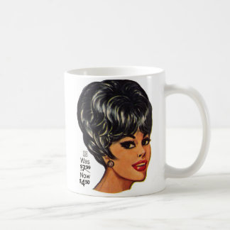 Kitsch Vintage '100% Human Wig' Ad #2 Classic White Coffee Mug