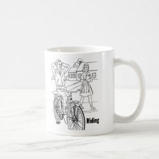 Kitsch Vintage 60's Teens Cruising Biker Mugs