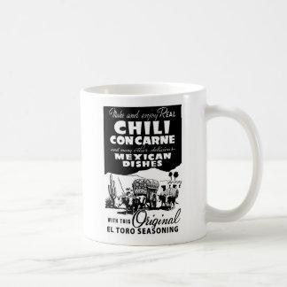 Kitsch Vintage Ad Chili Con Carne Spice Coffee Mug