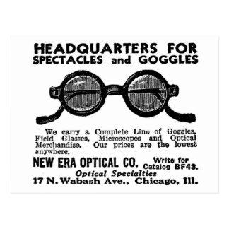 Kitsch Vintage Ad Googles and Eyewear Glasses Postcard