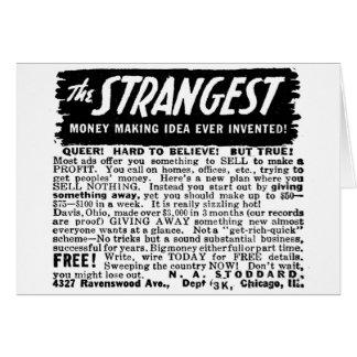 Kitsch Vintage Ad Strangest Why to Make Money Greeting Card