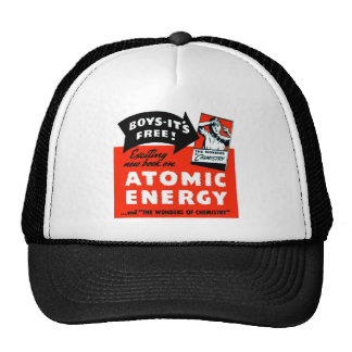 Kitsch Vintage Atomic Energy For Kids! Cap