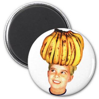 Kitsch Vintage Bananas Ad 'Banana Head girl' Magnet