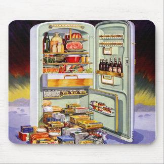 Kitsch Vintage Classic Refrigerator 'Full Fridge' Mouse Mat