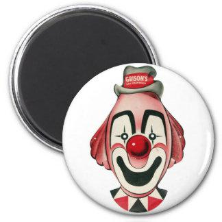 Kitsch Vintage Clown Face, Mask Magnet
