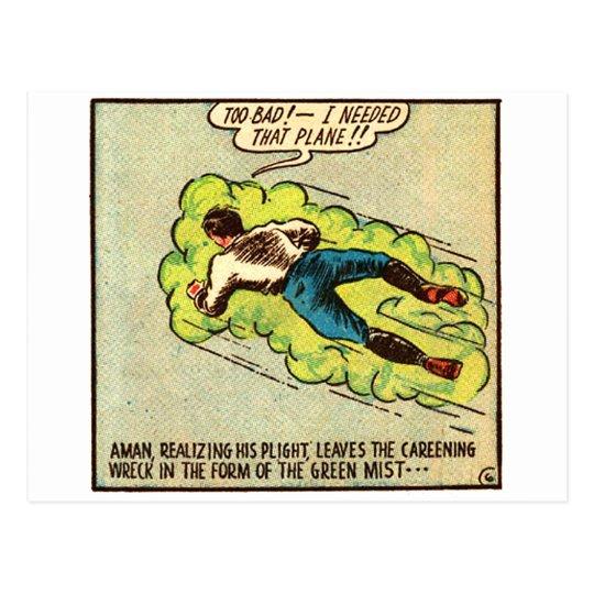 Kitsch Vintage Comic Aman Postcard