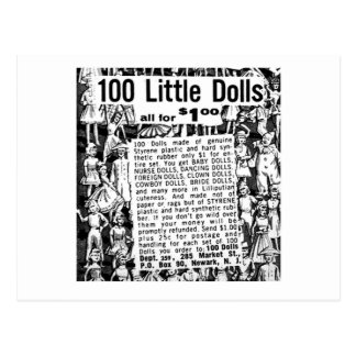 Kitsch Vintage Comic Book Ad 100 Little Dolls Postcard
