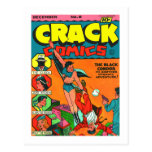 Kitsch Vintage Comic Book 'Crack Comics' Post Card