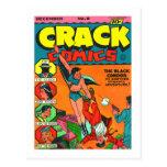 Kitsch Vintage Comic Book 'Crack Comics' Postcard