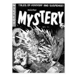 Kitsch Vintage Comic Book Mister Mystery Postcards