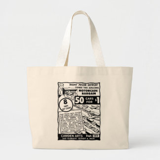 Kitsch Vintage Comic Book Toy Ad '50 Cars for $1' Jumbo Tote Bag