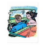Kitsch Vintage Comic Road Trip Romance Post Cards