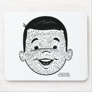 Kitsch Vintage Count My Freckles Kid Mouse Pad