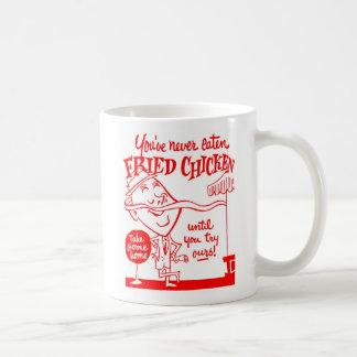 Kitsch Vintage Fried Chicken Ad Art Coffee Mug