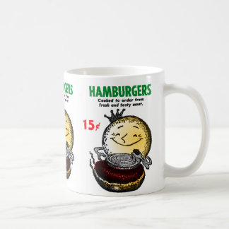 Kitsch Vintage Hamburgers 'Only 15¢' Mugs