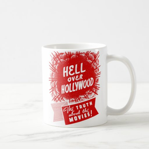 Kitsch Vintage Hell Over Hollywood Mugs
