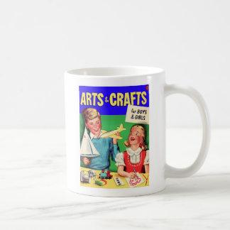Kitsch Vintage Kid's 'Arts & Crafts' Book Classic White Coffee Mug