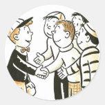 Kitsch Vintage Kids Good Buddies Sticker