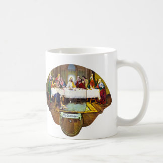 Kitsch Vintage Last Supper Di Vinci Advert Fan Basic White Mug