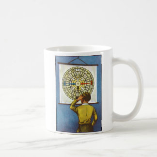Kitsch Vintage Lost Direction Boy Coffee Mug