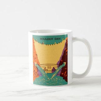 Kitsch Vintage Matchbook Boulder Dam Mugs