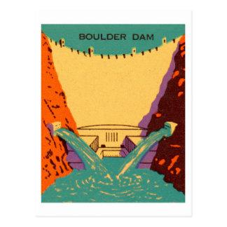 Kitsch Vintage Matchbook Boulder Dam Postcard