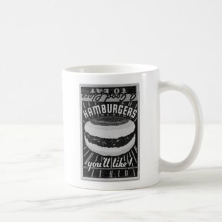 Kitsch Vintage Matchbook Hamburgers Classic White Coffee Mug
