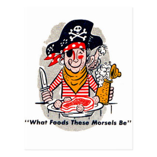 Kitsch Vintage Matchbook Hungry Pirate Postcard