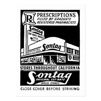 Kitsch Vintage Matchbook Sontag Drugstore Postcard