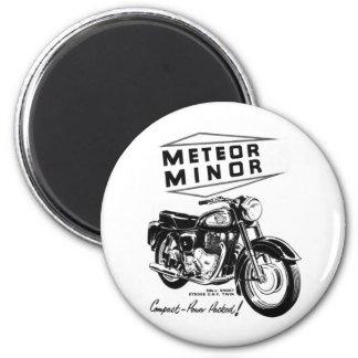 Kitsch Vintage 'Metor Minor' Motorcycle Bikers Magnet